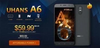 Экономим $25 при покупке смартфона Uhans A6 вместе с GearBest