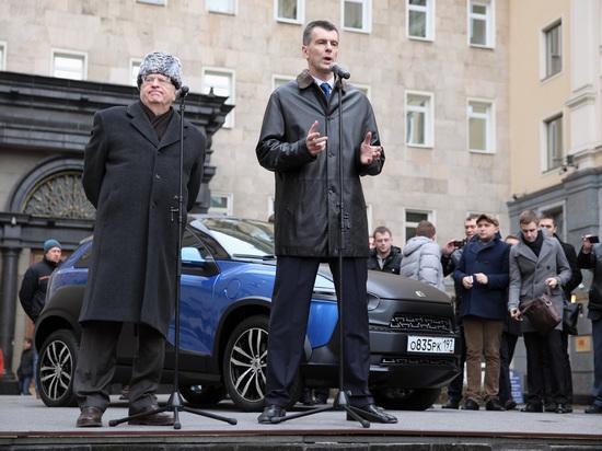 Рогозин предложил приделать Ё-мобилю Жириновского гусеницы и пушку