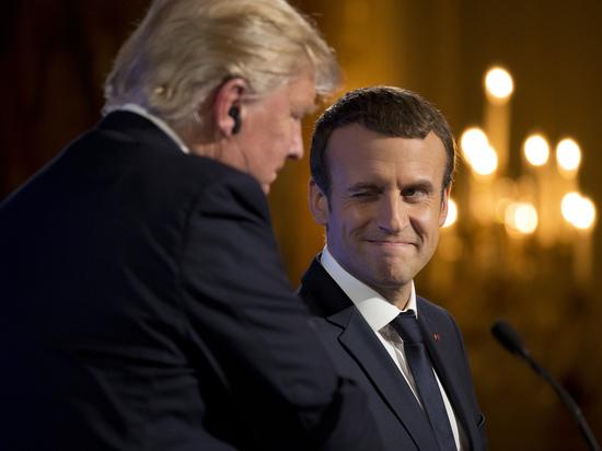 О чем Трамп и Макрон говорили в Париже
