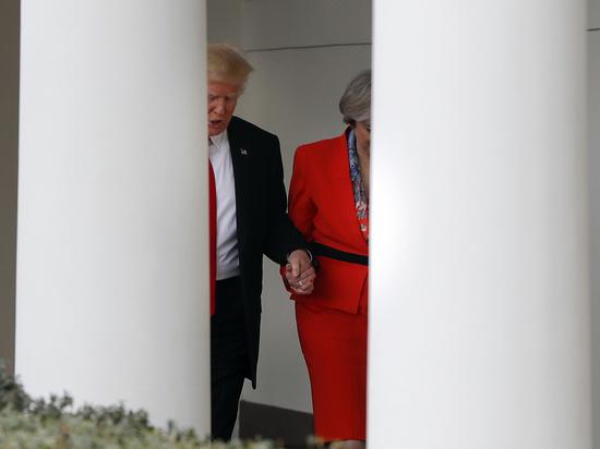 Премьер министр Великобритании объяснила интимную сцену с Трампом