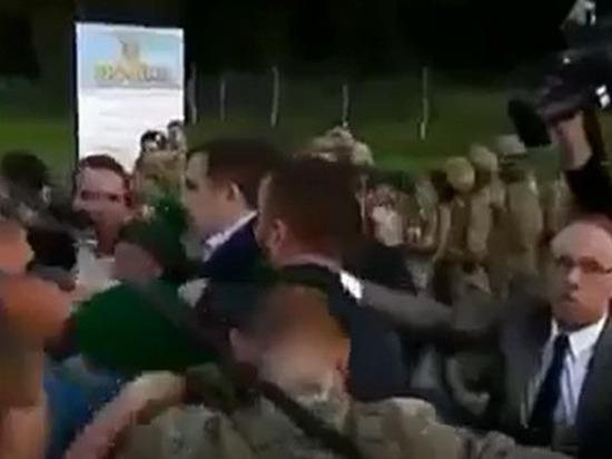 Саакашвили прорвался: появилось видео «боя» на украинско-польской границе
