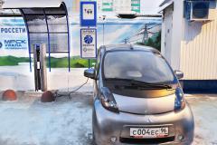 Челябэнерго открыл в Челябинске первую зарядную станцию для электромобилей
