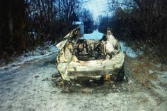 Трое пьяных жителей Копейска угнали и подожгли «Hyundai Solaris»